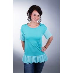 Shirt mit Volant und Chiffon-Ärmeln