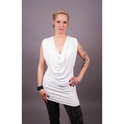 Asymmetrisches Wasserfall Kleid weiß