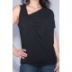 One-Shoulder Shirt schwarz