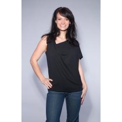 One-Shoulder Shirt schwarz
