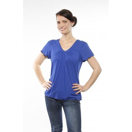 Shirt mit V-Ausschnitt und Raglanärmeln