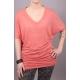 Shirt mit V-Ausschnitt und Fledermausärmeln rot
