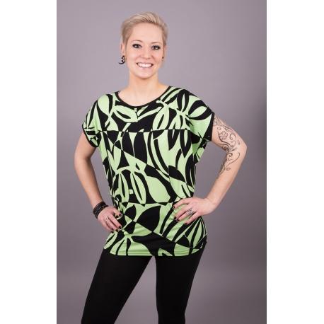 Trapez-Shirt mit grafischem Muster