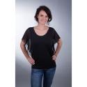 Shirt mit Chiffon-Ärmeln schwarz
