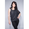 One Shoulder Chiffon-Shirt